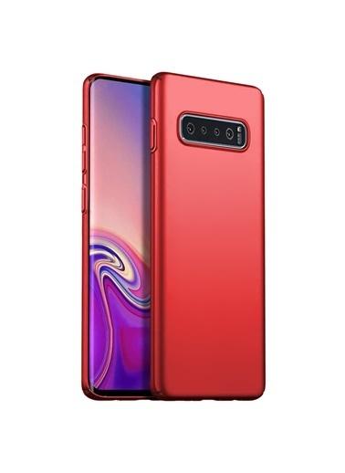 Microsonic Samsung Galaxy S10 Kılıf Premium Slim Kırmızı Kırmızı